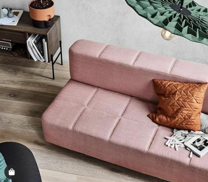 Divano letto per soggiorno rosa