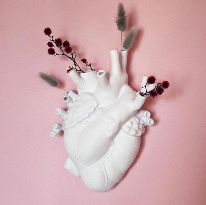 vaso a parete Seletti a forma di cuore,