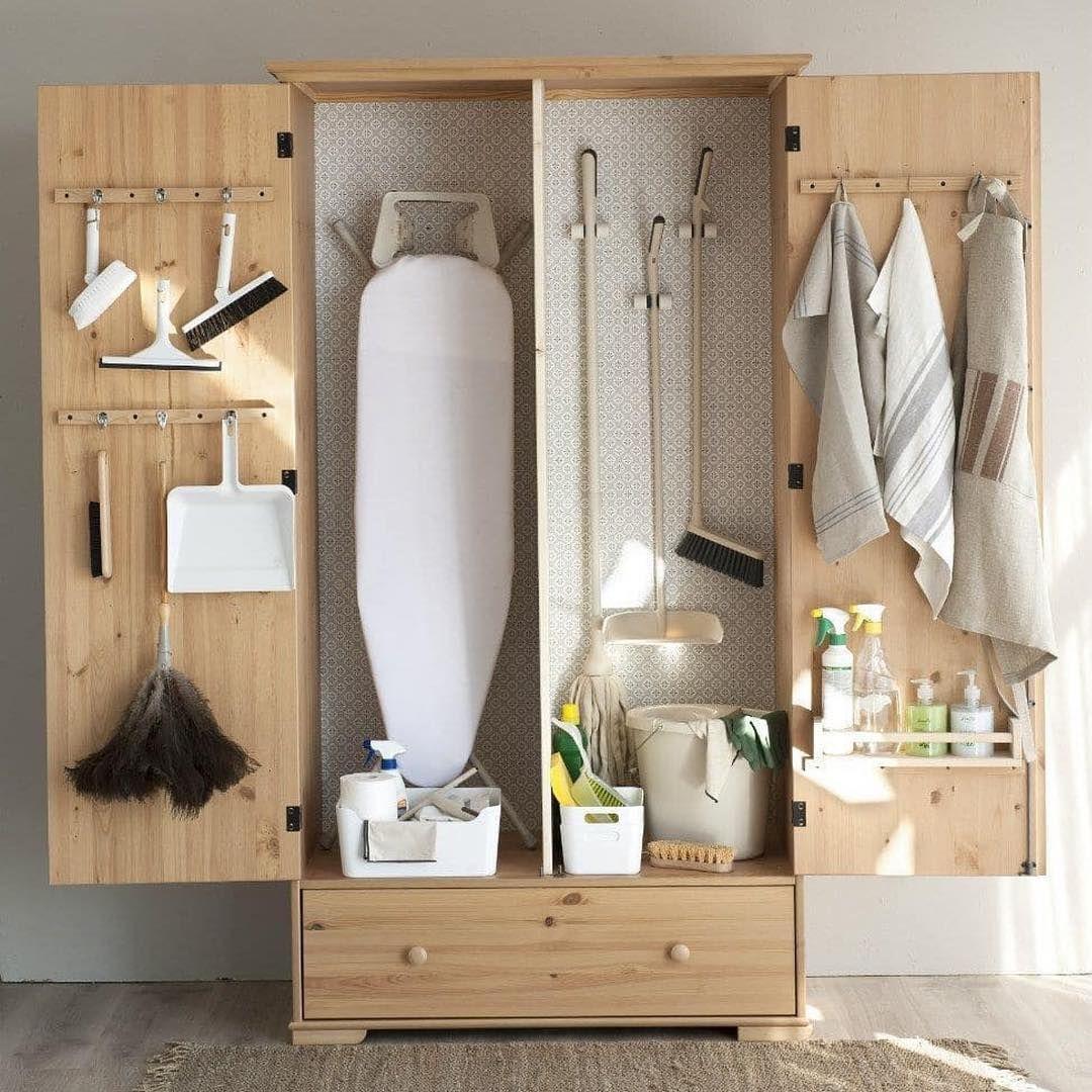 armadio per organizzare una piccola lavanderia in casa se non c'è spazio