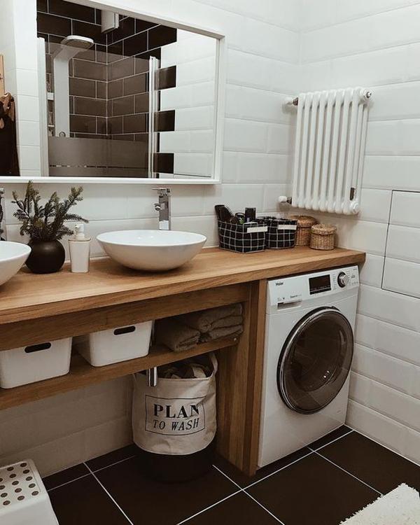 mensola base per lavandino e copri lavatrice