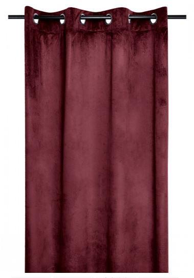 Tenda di velluto Bordeaux