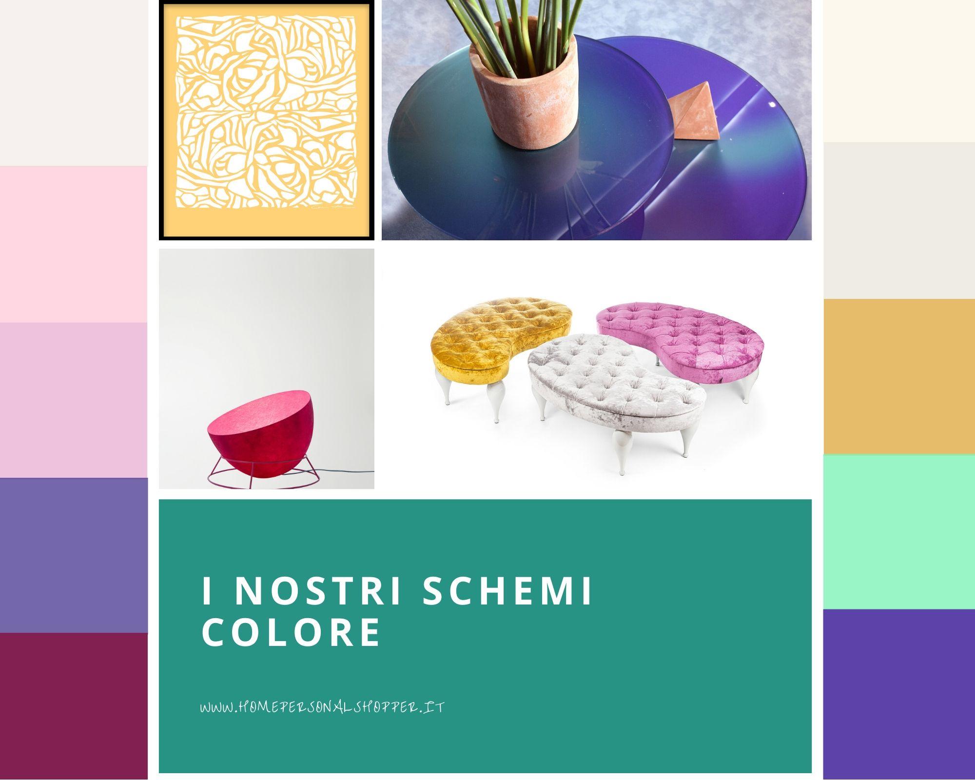abbinamento colori per arredamento casa con questi schemi colore