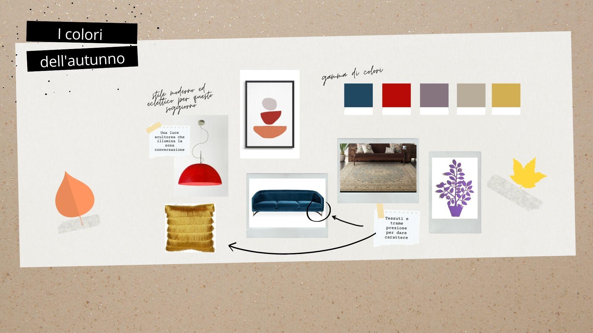 soggiorno colori tendenza 2020 moodboard