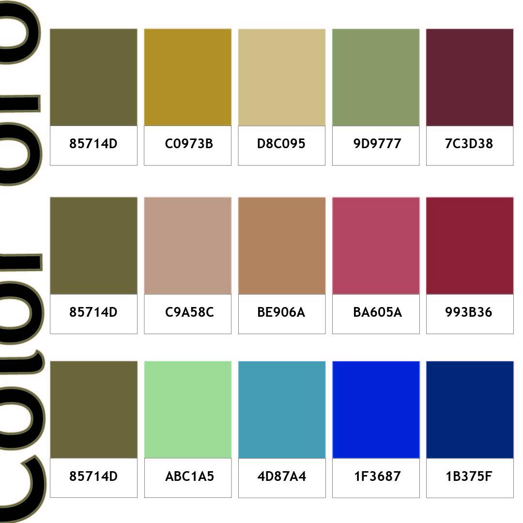 pareti colore oro e schemi cromatici in abbinamento
